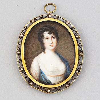 Unknown artist 19th Century. Miniature. Unsigned.