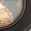 Pierre adrien lebeau. miniature. signed.