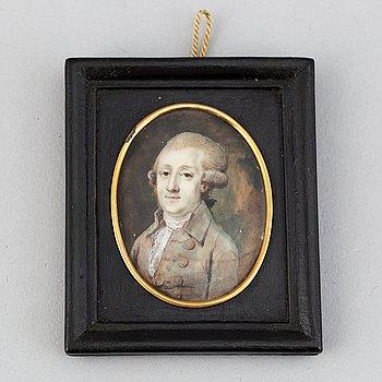 Okänd konstnär 1700-tal. Miniatyr. Osignerad.