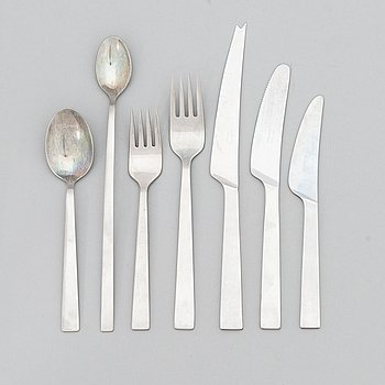 "Bertel Gardberg, A mid-20thcentury 33-piece ""Birgitta"" satinless steel cutlery set for Fiskars."