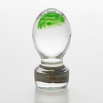 Nanny Still, A glass art object/ paperweight, 'Kuukuna', model 6450, signed Nanny Still, Riihimäen Lasi oy.