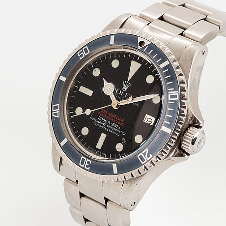 """Rolex, sea-dweller, """"double red mark iv""""."""