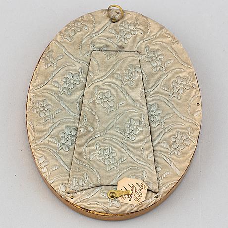 Thomas gainsborough, efter. miniatyr. signerad. 1800-tal.