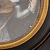 Okänd konstnär 1800-tal, miniatyr. bär otydlig signatur.