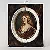 Unknown artist 19th century. miniature. signed.