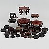 31 chinese wooden stands of different sorts, 20th century.