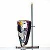 "Reino björk, a ""bad love"" glass sculpture/vase from the ""new eden series"", new york experimental glass workshop, usa 1990."
