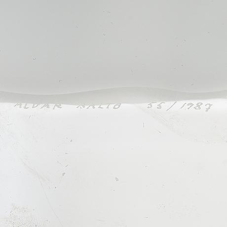 Alvar aalto, 'the aalto flower', signed alvar aalto 55/1987.
