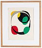 Pierre olofsson, linocut, signed and numbered 86/90.