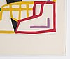 Pierre olofsson, linocut, signed and numbered 56/90.