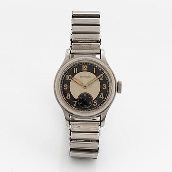 "Longines, ""Tre Tacche Radium Bulls Eye Dial"", wristwatch, 32,5 mm."