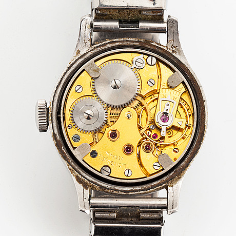 "Longines, ""tre tacche radium bulls eye dial"", armbandsur, 32,5 mm."