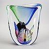 Vase, murano, signed, height 35 cm, glass.