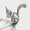 A squirrel decorated silver serving dish, spain after 1934.