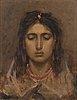 Pavel alexandrovich svedomsky, portrait of a woman.