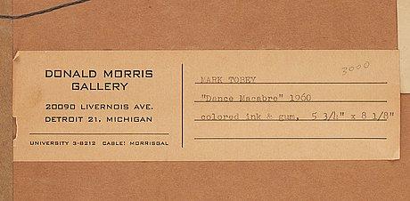 "Mark tobey, ""dance macabre""."