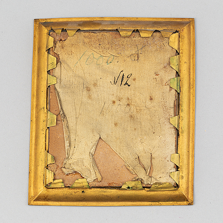 Charles antoine coypel, after. 19th century. miniature. unsigned.