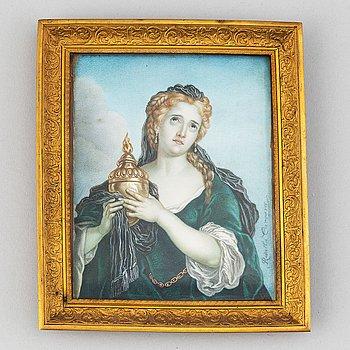Charles Antoine Coypel, efter. 1800-tal. Miniatyr. Osignerad.