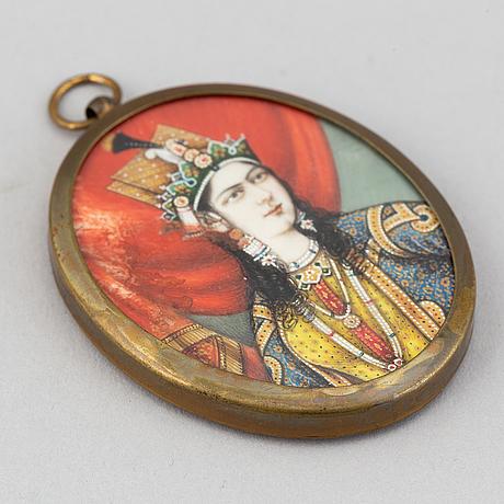 Indisk skola 1800-tal, miniatyr. osignerad.