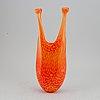 Kjell engman, a glass vase from kosta, sweden.