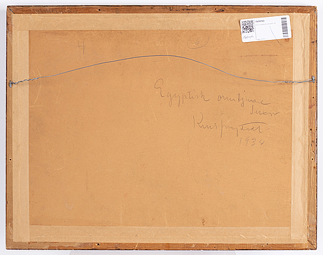 Kurt jungstedt, watercolour, signed.