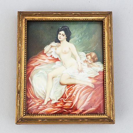 Unknown artist 20th century. miniature. unclear signature.