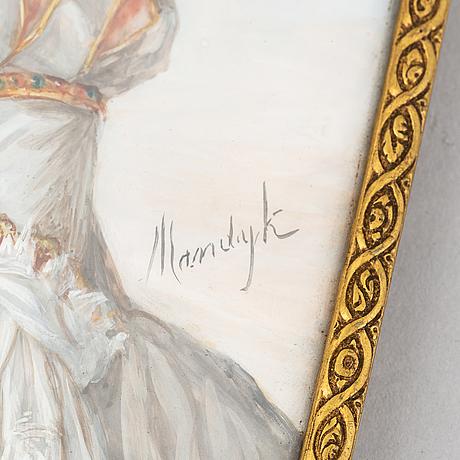 Okänd konstnär 1800/1900-tal. miniatyr. signerad.