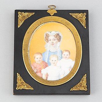 Okänd konstnär 1800-tal. Miniatyr. Osignerad.