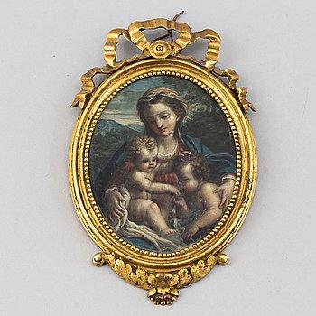 Antonio Allegri Correggio, in the manner of. Moniature. 18/19th Century. Unsigned.