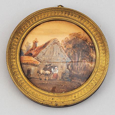 Unknown artist 19th century. miniature. unsigned. watercolour.