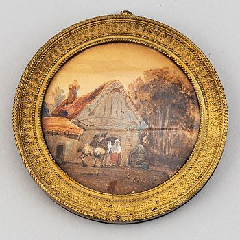Okänd konstnär 1800-tal, Miniatyr. Osignerad. Akvarell.