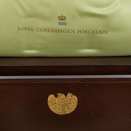 Royal copenhagen, kaffeservis/presentationsservis, 9 delar, porslin, danmark.
