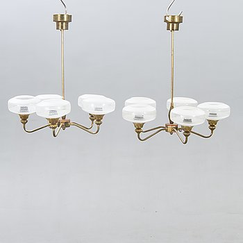 A pair of 1950s ceiling lamps.