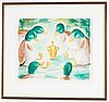 Ernst billgren, lithograph in colors, signed and numbered 51/300.