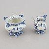 "Royal copenhagen, a part dinner service, 50 pcs, ""blue fluted"" full lace,"