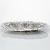 A baltic early 18th century silver dish, mark of christoffer i. mansfeld, reval (1682-1710).
