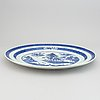 A blue and white serving dish, qing dynasty, 19th century.