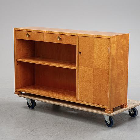 A birch tree book case, mid 20th century.