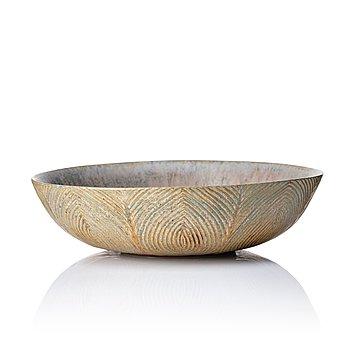 """133. Axel Salto, a stoneware """"fluted style"""" stoneware bowl, Denmark 1933."""