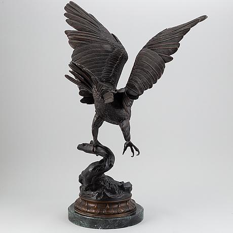 Jules moigniez, after. sculpture. signed. bronze.