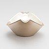 Anna-greta eker, a mahogany and silver sugar bowl and cream jug and a silver bowl, auran kultaseppä, turku 1963-67.
