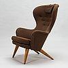 Carl gustaf hiort af ornäs, a mid-20th-century armchair 'siesta' manufacturer puunveisto oy - träsnideri ab, finland.