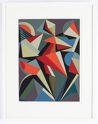 C göran karlsson, silkscreen in colors, signed cgk and numbered 85/99.