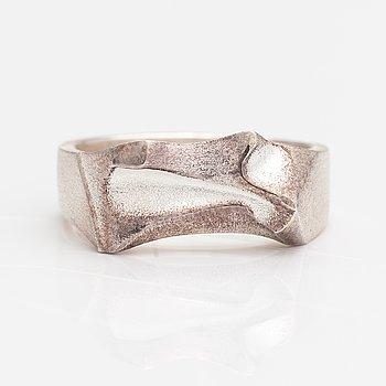 Björn Weckström, A stelring silver ring. Lapponia 2008.