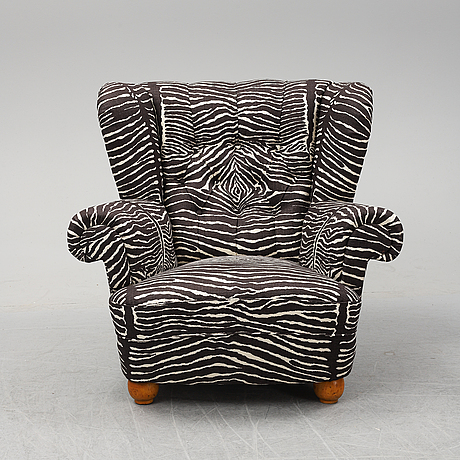 A lounge chair from oh sjögren, second half of the 20th century.