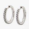 Ole lynggaard earrings, 18k gold with 42 brilliant-cut diamonds 0,42 ct in total, tw vs, diameter 16 mm.