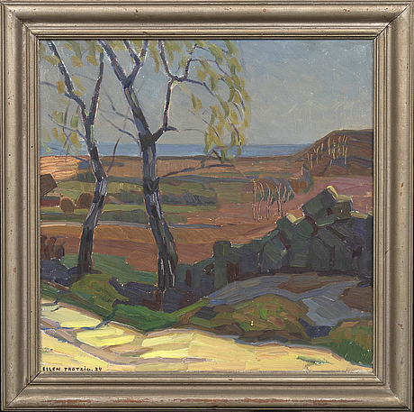 Ellen trotzig, oil on canvas signed and dated 34.