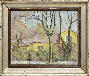 Ester Gehlin, oil on canvas signed and dated 1938.