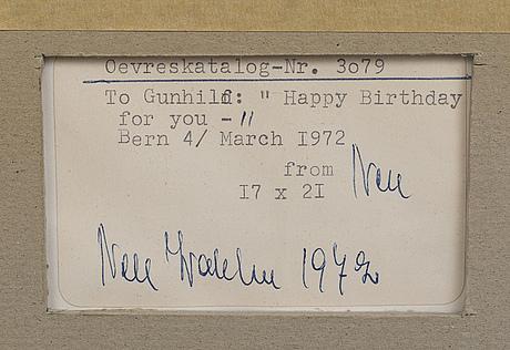 Nell walden, akvarell signerad.