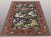 A rug, figural qum, ca 195 x 140 cm.